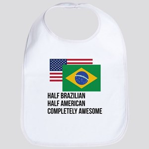 Half Brazilian Completely Awesome Bib