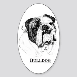 Bulldog Dog Breed Oval Sticker