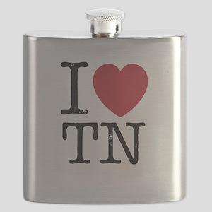 I Love TN Tennessee Flask