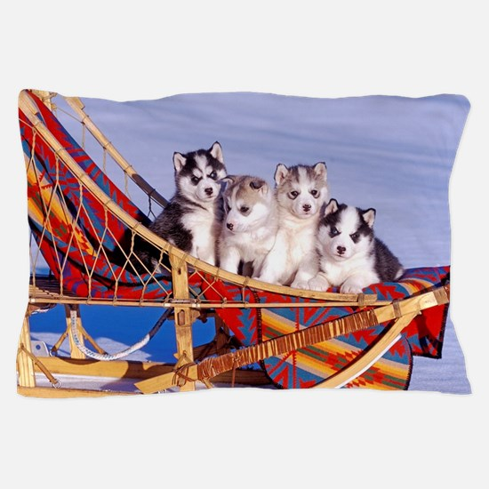 Funny Puppies. Pillow Case