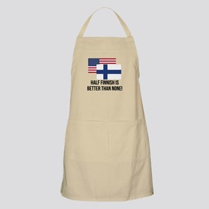 Half Finnish Is Better Than None Apron