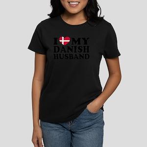 I Love My Danish Husband Women's Dark T-Shirt