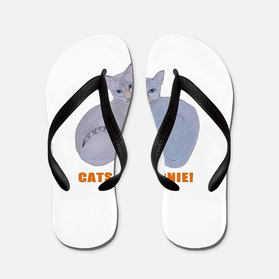 Cats for Bernie! Flip Flops