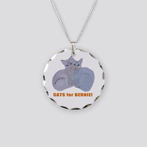 Cats for Bernie! Necklace Circle Charm