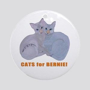 Cats for Bernie! Round Ornament