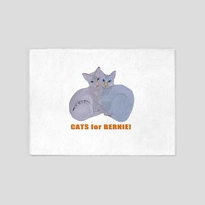 Cats for Bernie! 5'x7'Area Rug