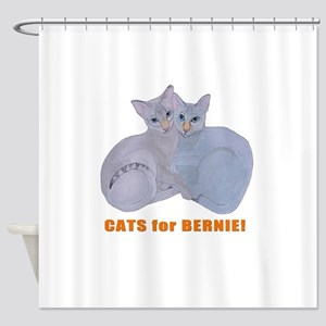 Cats for Bernie! Shower Curtain