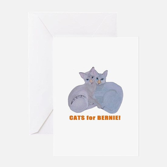 Cats for Bernie! Greeting Cards