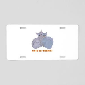 Cats for Bernie! Aluminum License Plate