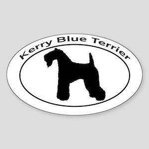 KERRY BLUE TERRIER Sticker (Oval)