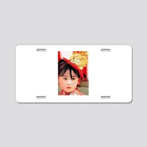 Japanese Little Girl Aluminum License Plate