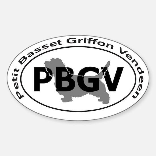 PETIT BASSET GRIFFON VENDEEN Sticker (Oval)