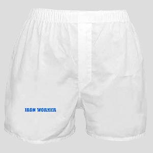 Iron Worker Blue Bold Design Boxer Shorts