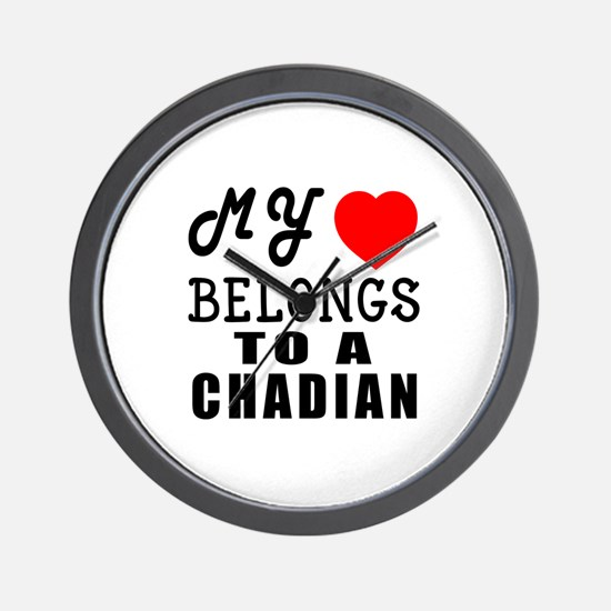 I Love Chadian Wall Clock