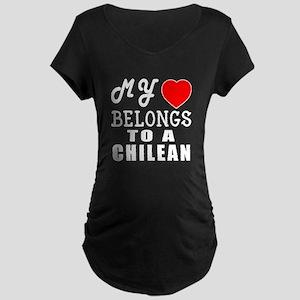 I Love Chilean Maternity Dark T-Shirt