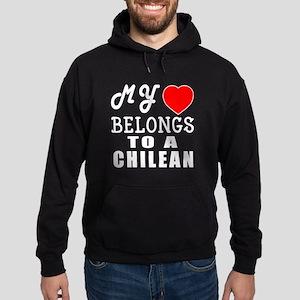 I Love Chilean Hoodie (dark)