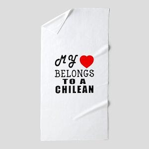 I Love Chilean Beach Towel