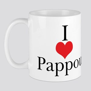 I Love (Heart) Pappou Mug