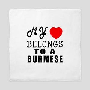 I Love Burmese Queen Duvet