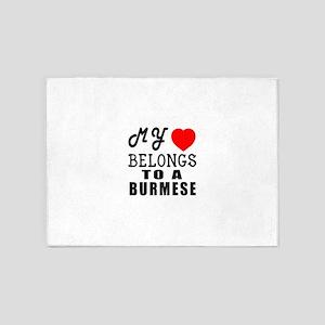 I Love Burmese 5'x7'Area Rug
