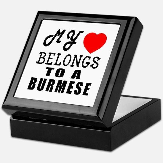 I Love Burmese Keepsake Box