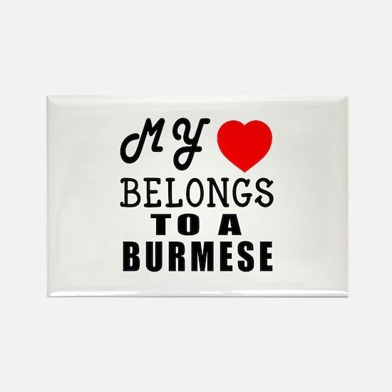 I Love Burmese Rectangle Magnet