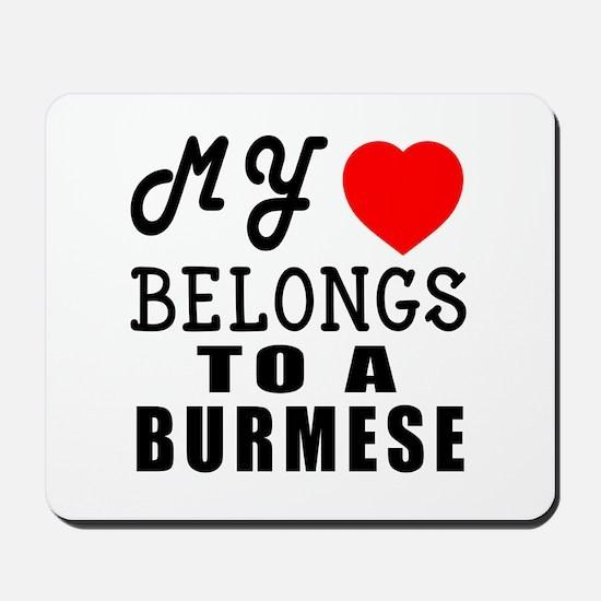 I Love Burmese Mousepad