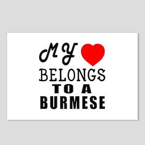 I Love Burmese Postcards (Package of 8)