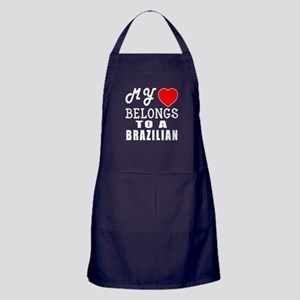 I Love Brazilian Apron (dark)