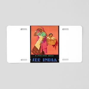 Vintage poster - India Aluminum License Plate