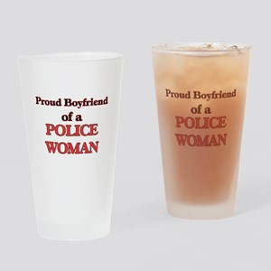 Proud Boyfriend of a Police Woman Drinking Glass