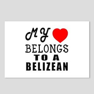 I Love Belizean Postcards (Package of 8)