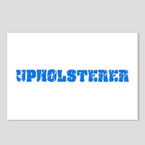 Upholsterer Blue Bold Des Postcards (Package of 8)