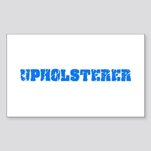Upholsterer Blue Bold Design Sticker