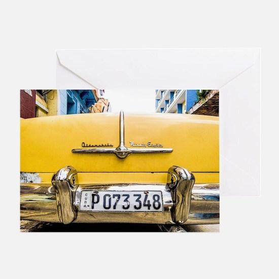 Funny Cuba cars Greeting Card