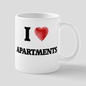 I Love APARTMENTS Mugs