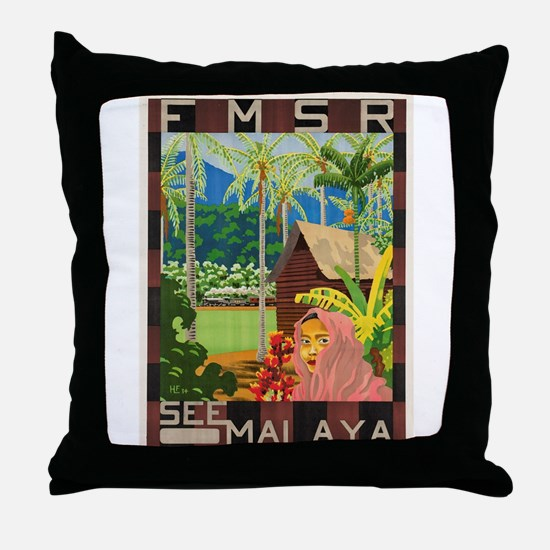Native Singapore Pillows Native Singapore Throw Pillows
