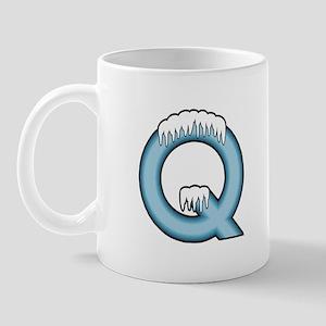 Icy Blue Q Mug