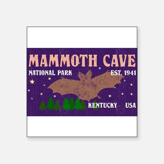 "Cute Mammoth cave national park Square Sticker 3"" x 3"""