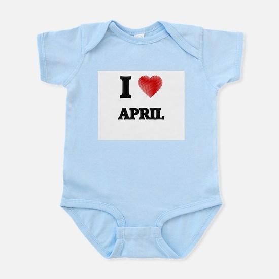 I Love APRIL Body Suit