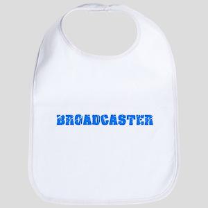 Broadcaster Blue Bold Design Baby Bib