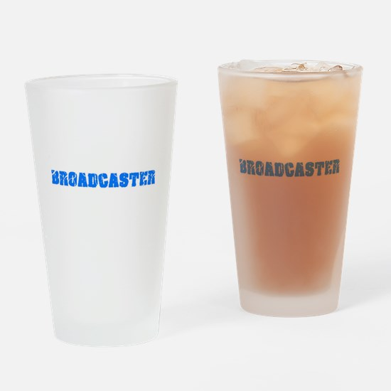 Broadcaster Blue Bold Design Drinking Glass