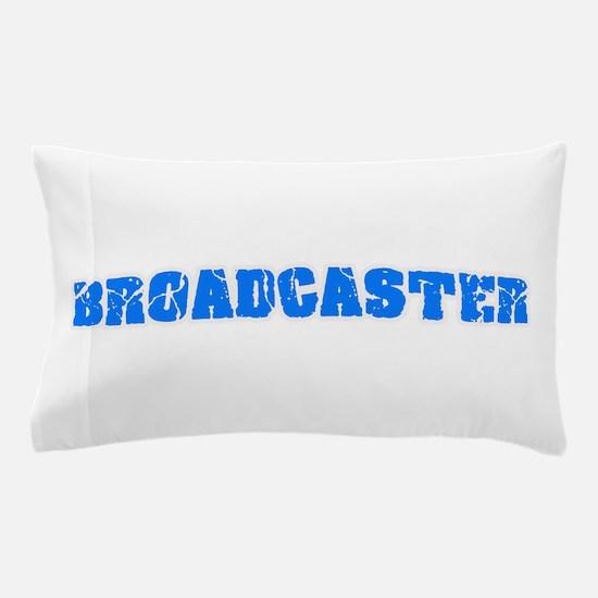 Broadcaster Blue Bold Design Pillow Case