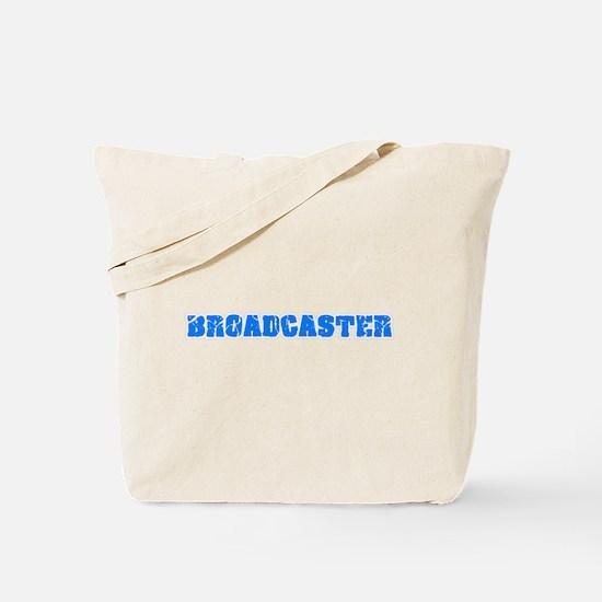 Broadcaster Blue Bold Design Tote Bag