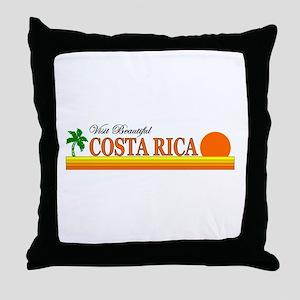 Visit Beautiful Costa Rica Throw Pillow