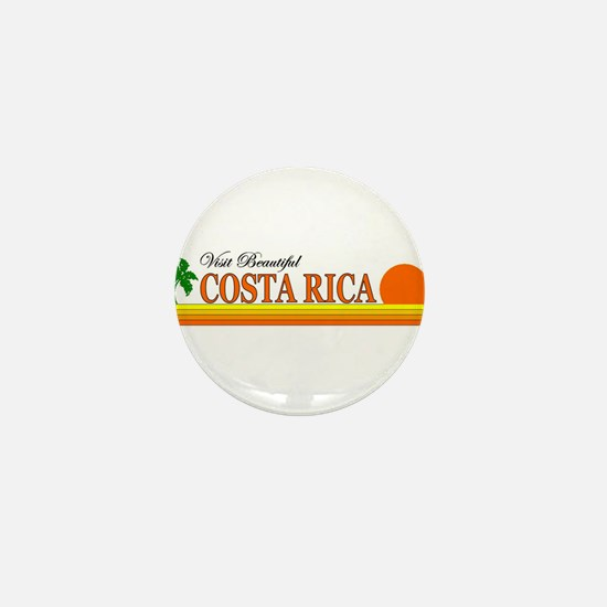 Visit Beautiful Costa Rica Mini Button