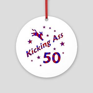 Kicking Ass 50 Ornament (Round)