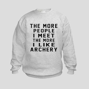 I Like More Archery Kids Sweatshirt