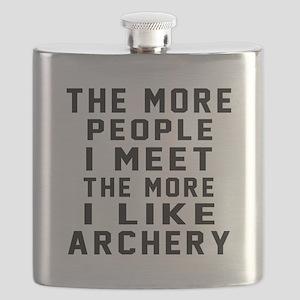 I Like More Archery Flask