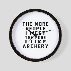 I Like More Archery Wall Clock
